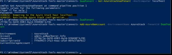 Target AzureRM cmdlets to Azure Stack