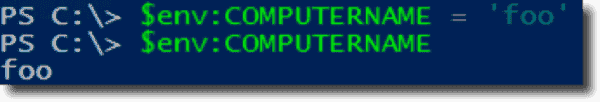 Assigning environment variable via PS Drive