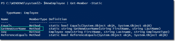 Discovering static methods