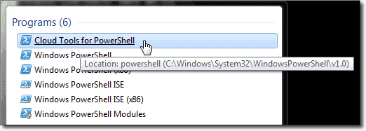 PowerShell Cloud Tools executable