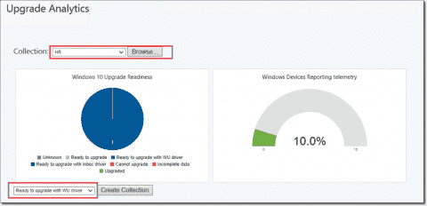 Integrate Windows Upgrade Analytics with Configuration Manager