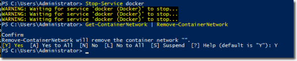 Removing container networks