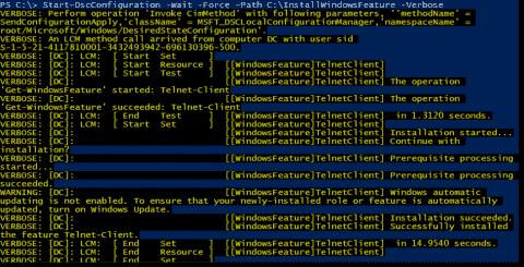 Invoke-DscResource – Invoke a PowerShell DSC without a configuration file