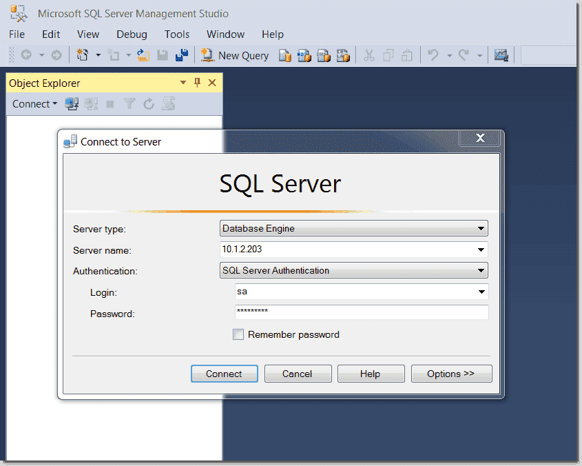 SSMS connect to mssql server on Ubuntu