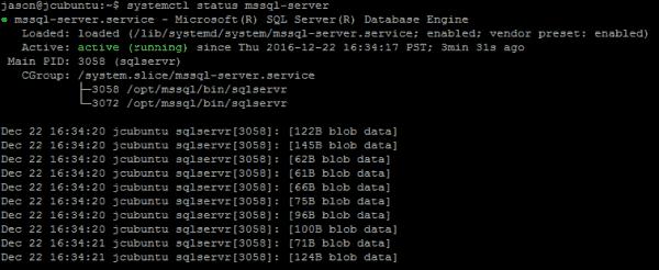 mssql server status