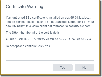 Accept certificate warning