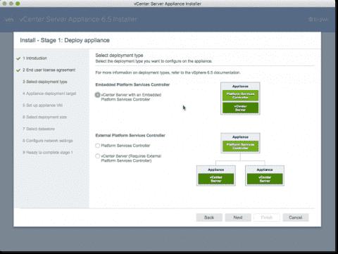 Install VMware vCenter (VCSA) 6.5 – Part 1: Deployment
