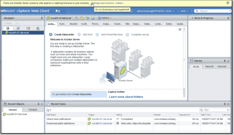 Install VMware vCenter (VCSA) 6.5 – Part 2: Initial configuration