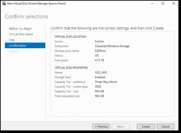Creating a virtual disk