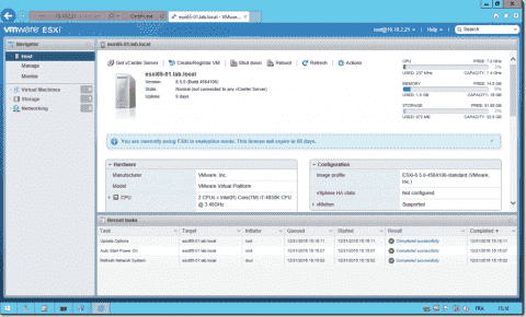 How to install and configure an ESXi 6.5 host