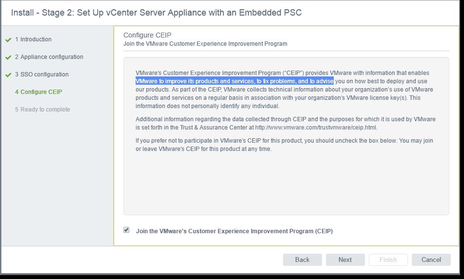 Install VMware vCenter (VCSA) 6 5 – Part 2: Initial configuration