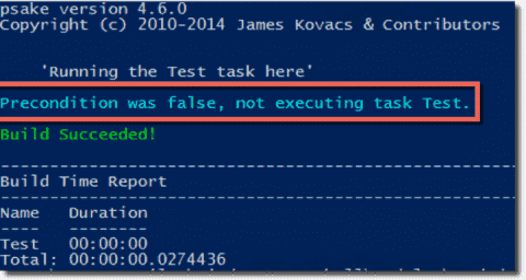 Psake: Build automation with PowerShell