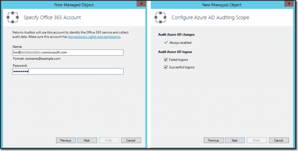 The Office 365 Azure AD managed object