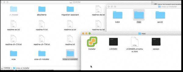 VMware VCSA 6.5 Mac installer