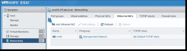 Add a VMkernel NIC