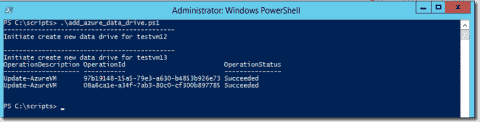 Add multiple data drives to an Azure VM with PowerShell
