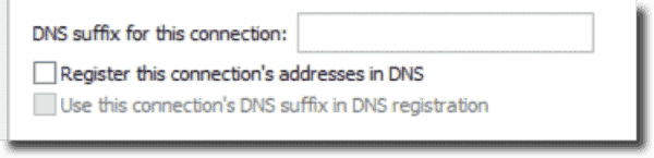 Disabled client DDNS registration
