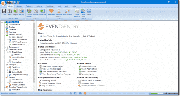 EventSentry management console