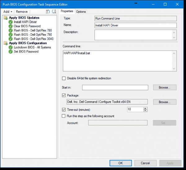 Install HAPI driver properties