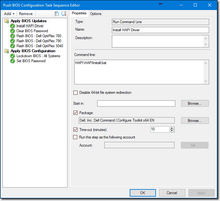 Dell BIOS update with SCCM and Dell Command | Configure