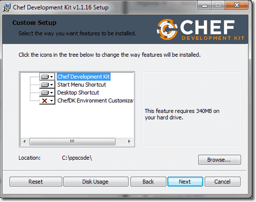 Installing Chef Development Kit