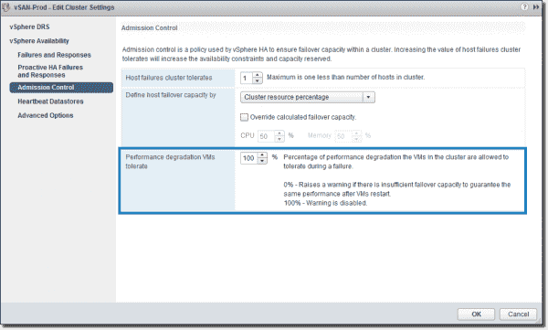 Performance degradation VMs can tolerate after restarts