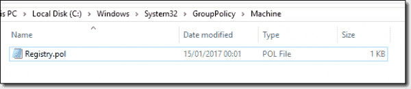 Registry.pol file location for Local Group Policy