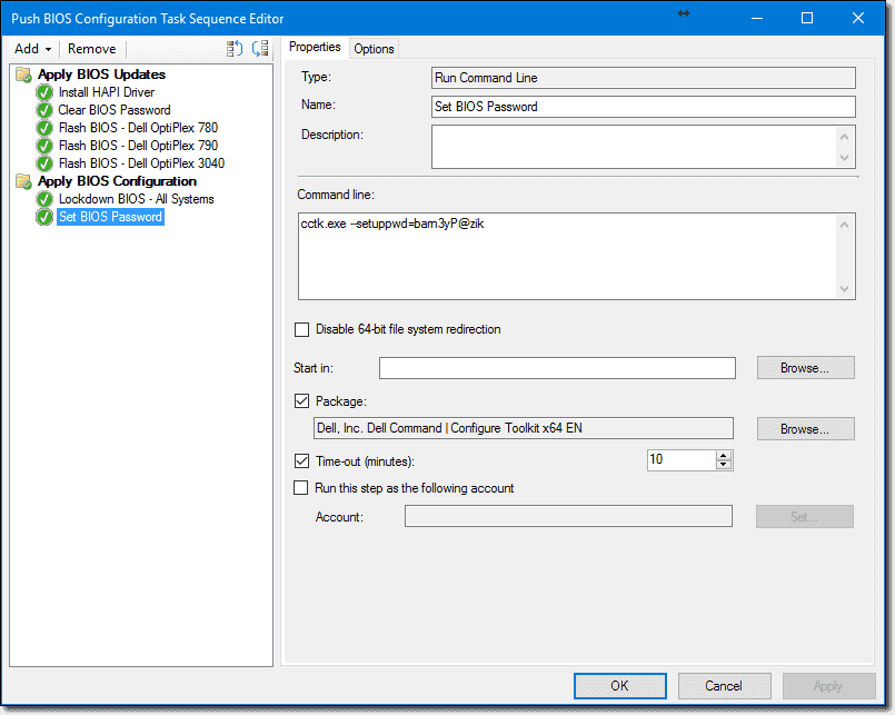 Dell BIOS update with SCCM and Dell Command | Configure – 4sysops