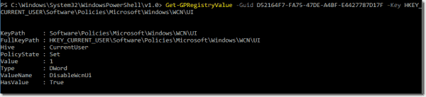 Using the Get GPRegistryValue cmdlet to retrieve policy settings