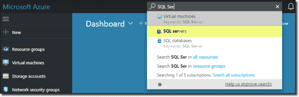 Azure universal search tool