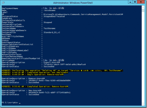 Rename an Azure VM with PowerShell