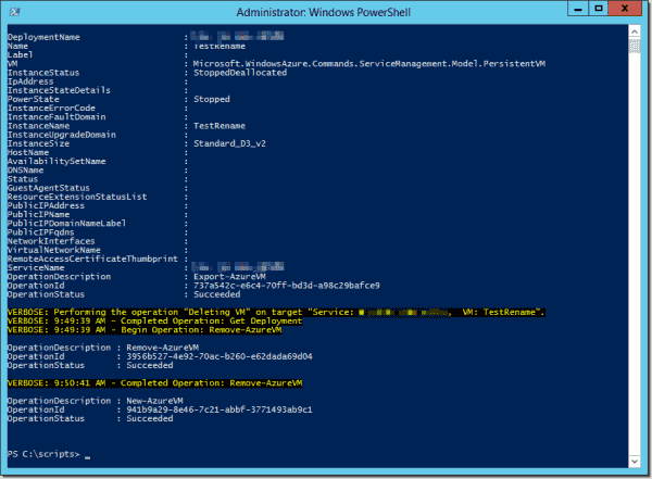 Renaming an Azure VM