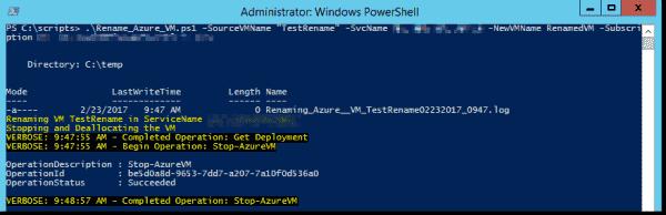 Stopping an Azure VM