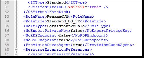 VM configuration file