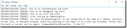 Standardize PowerShell logging with my Write-LogEntry function