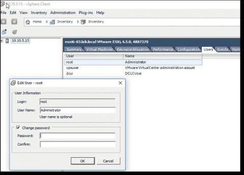 Three ways to reset a VMware ESXi root password