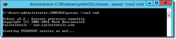 Connecting to a remote machine with psexec