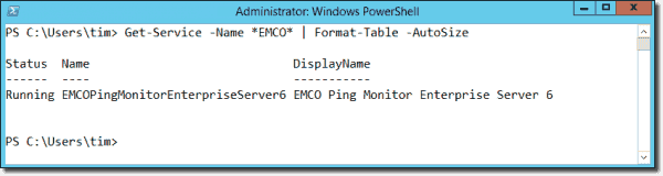 EMCO Ping monitor runs as a Windows service