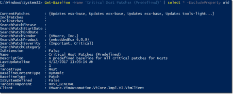Using VMware vSphere Update Manager with PowerCLI