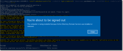 Deploying a Windows Server 2016 read-only domain controller (RODC) with PowerShell
