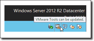 VMware Tools icon in the systray
