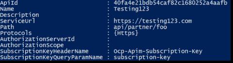 Using Azure API Management with PowerShell