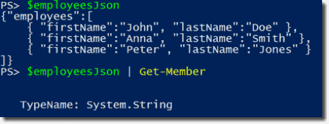 Convert JSON with the PowerShell cmdlets ConvertFrom-Json and ConvertTo-Json