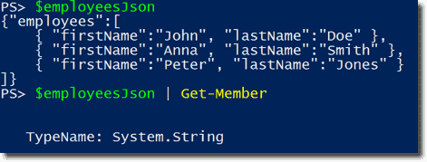 Convert JSON with the PowerShell cmdlets ConvertFrom-Json and