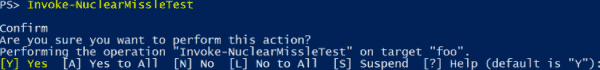 PowerShell function asks for confirmation