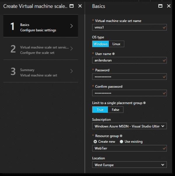 Scale set basic settings