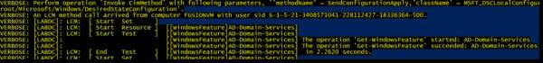 Start DscConfiguration