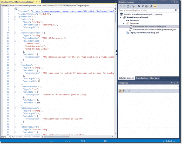 VMSS ARM Template in Visual Studio