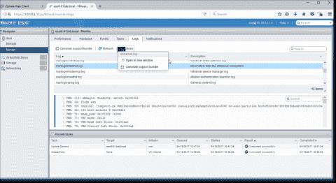 Viewing ESXi log files