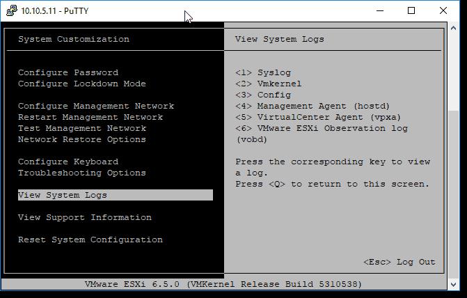 Viewing ESXi log files – 4sysops